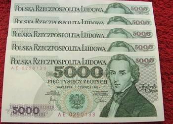 POLSKA PRL 5000 ZŁ FRYDERYK CHOPIN - Banknot UNC - 1 szt.