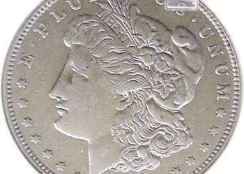 Dolar USA 1921 Morgan grading VF30 SREBRO ORYGINAŁ