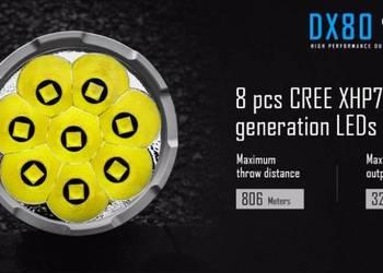 Latarka IMALENT DX80 32000 Lumenów 8 CREE XHP70 LED Power