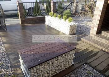 Meble ogrodowe taboret ławka stół do ogrodu ogród gabiony
