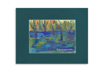 Obraz akwarela,pejzaż akwarela,obrazek do salonu krajobraz