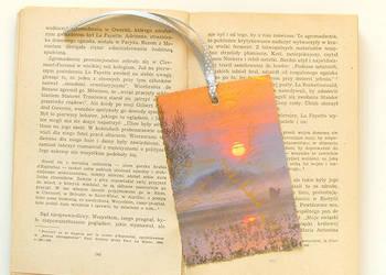 zachód słońca zakładka do ksiązki, ładna zakładka z pejzażem