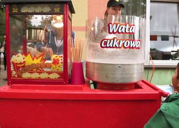 Wata cukrowa, Popcorn - wynajem