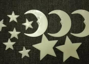 Gwiazdy świecące w ciemności i księżyce Pokój Dziecka
