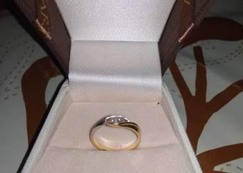 Pierścionek zaręczynowy APART, złoty z diamentem, 40% ceny!