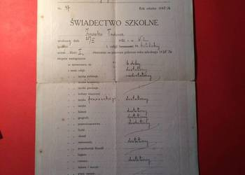 ( 152 ) Dwa świadectwa szkolne z Wilna