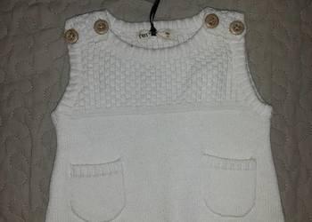Nowy bezrękawnik sweterek cudny 56