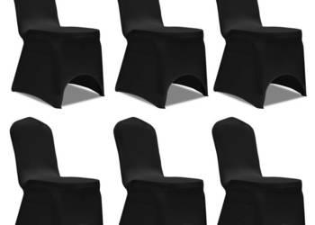 Pokrowiec na krzesło, czarny x 6 241198