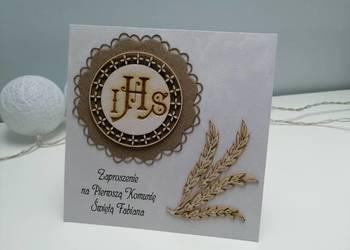 zaproszenia na komunię rustykalne