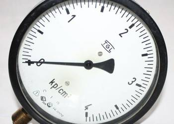 Manometry od 0 do 4 kp / cm2, średnica fi 160, TGL, DDR