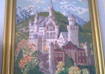 obraz krzyżykowy zamek Neuschwanstein w Bawarii