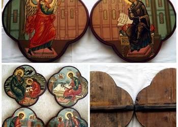 Komplet sześciu Ikon Czterech Ewangelistów Zwiastowanie Najś