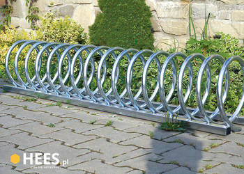 Stojak Rowerowy S6-7 ( spirala, 6 stanowisk ) na 6 rowerów