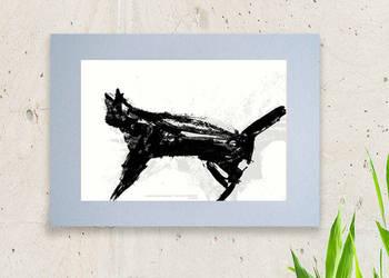 czarno biały plakat do pokoju,nowoczesny plakat,plakat kot