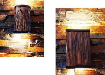 KINKIET LED TUBA  drewno szczotkowane