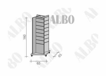 Ekspozytor panel - stojak panel MDF - meble sklepowe