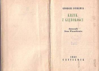 (8986) KRZYK Z GŁĘBOKOŚCI – GEORGES DUHAMEL