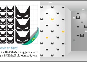 NAKLEJKI BATMAN na meble ścianę MASKI BATMANA  - 9cm/4,5cm