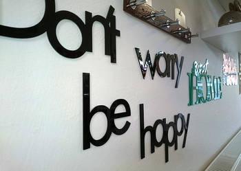 Napis dekoracyjny na ścianę z akrylu!