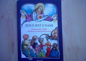 Religia kl.2 JEZUS JEST Z NAMI, szk.podstawowa, jak nowa!! TANIO!!!