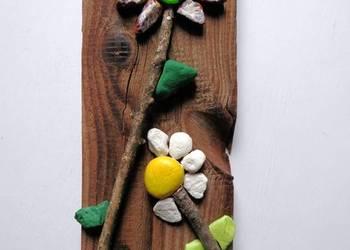 Kwiat okolicznościowy z drewna i kamienia_dedykacja_