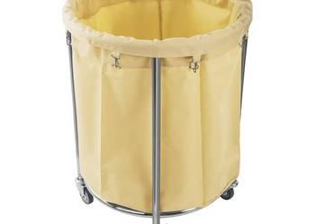 Wózek na pranie 230 litrów cylindryczny kółka hamulce