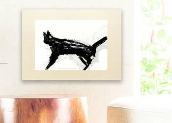 czarno biały plakat do domu,minimalizm plakat,plakat z kotem