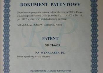 Patent na wynalazek - sprzedam wyłączne prawo.