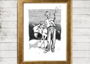 Ilustracja 'Zorba' - wydruk