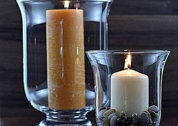 Piękny świecznik-  Lampion, Kielich h=24 cm