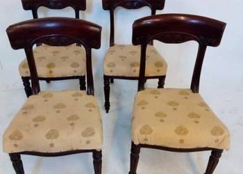 Oryginalny Biedermeier krzesła 4 szt. Dla konesera.