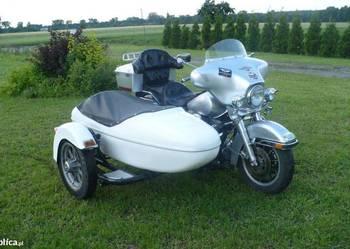 Harley Wózek boczny Gondola przyczepa Honda Suzuki.ZAMIENIĘ