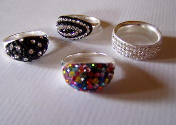Pierścionki srebrne z kryształkami Swarovski