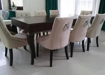 Krzesło tapicerowane pikowane z kołatką glamour producent