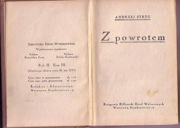 (1097) Z POWROTEM - ANDRZEJ STRUG   OKOŁO 1920 ROKU