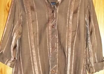 Bluzka koszulowa brązowa