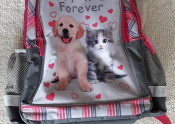 Plecak szkolny dla dziewczynki (Rachael Hale piesek+kotek)