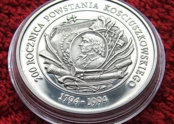 MONETA 200000 ZŁ POWSTANIE KOŚCIUSZKOWSKIE 1994 ROK SREBRO
