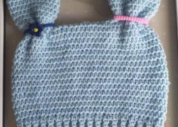 fbc71489267b3 Czapka czapeczka niebieska z uszami dziecko