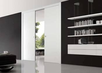 Drzwi przesuwne podwójne chowane w ścianę, kaseta ECLISSE