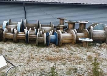 Szpula bęben po linie drewniany , na stolik, tarasy
