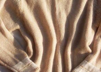 Ciepły Sweter Tunika z Wełną j Nowy 40 L