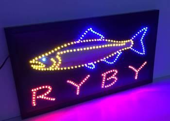 RYBY reklama LED 68x38cm zewnętrzna NOWA