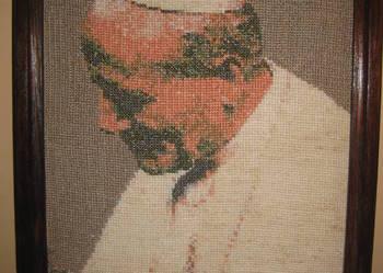 Obraz Św.Jan Paweł II ręcznie haftowany
