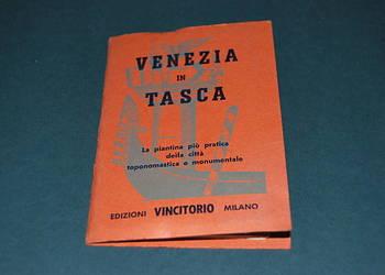 Wenecja Mapa Kieszonkowa Wyd z 1960r Starocia