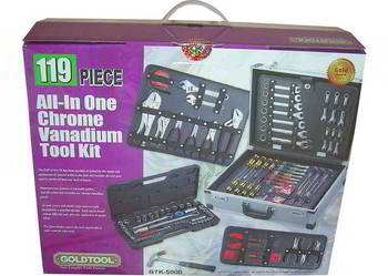 Zestaw 119 narzędzi w walizce GOLDTOOL