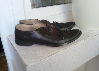 Włoskie buty ''Hand Made'' 38/39 rozm. kol. czarny