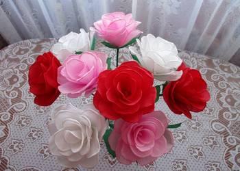 Róża prezent na ślub, podziękowania, imieniny - rękodzieło