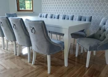 Krzesło pikowane glamour chesterfield hampton z kołatką