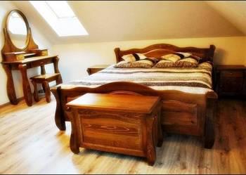 Piękna Nowa Drewniana Sypialnia 140,160,180,200 PRODUCENT